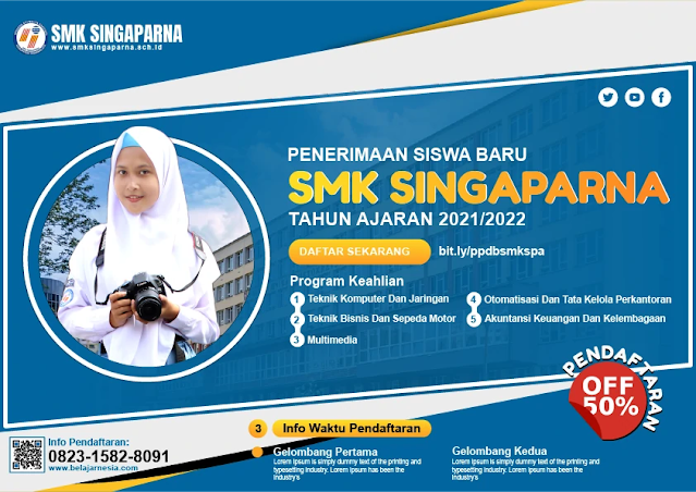 Free Brosur PPDB : Contoh Desain Brosur SMK Penerimaan Siswa baru Gratis