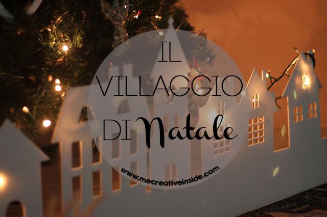 villaggio di natale pdf sagoma tutorial diy ME creativeinside