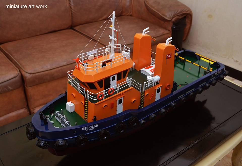 foto gambar miniatur kapal tugboat tb sse olga milik singapore salvage engineers pt samudra salvage terbaru