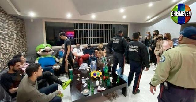 22 Sifrinitos y un peluche fueron detenidos por hacer una Coronaparty en Chacao