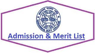 Narasinha Dutt College Merit List