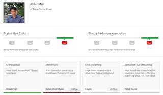 Status Akun: Anda Memenuhi Syarat Untuk Monetisasi [Akhir Mali] Youtube Channel