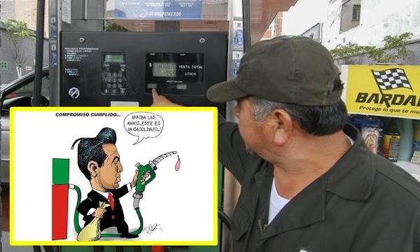 Tras 6 meses del gasolinazo, el combustible sigue caro, pese a la promesa que el precio de los hidrocarburos bajaría.