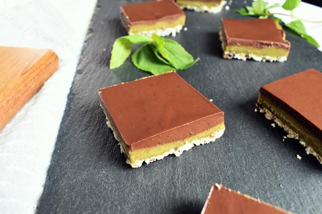 Vegan Mint Chocolate Squares