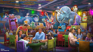 New Toy Story Land Restaurant Concept Art