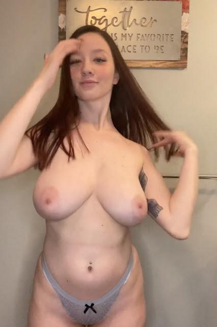 busty girl topless boobs in panties