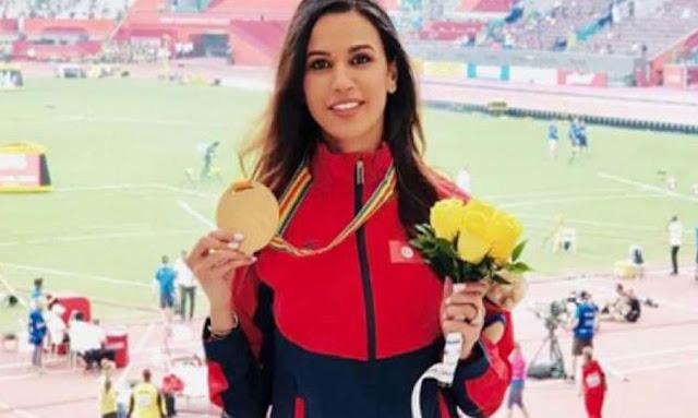 التونسية حبيبة الغريبي تتسلّم ذهبيّة سباق 3000 متر موانع