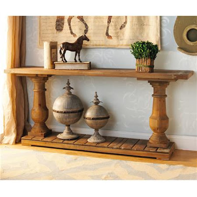 Restoration Hardware Barade Salvaged Wood Console Table
