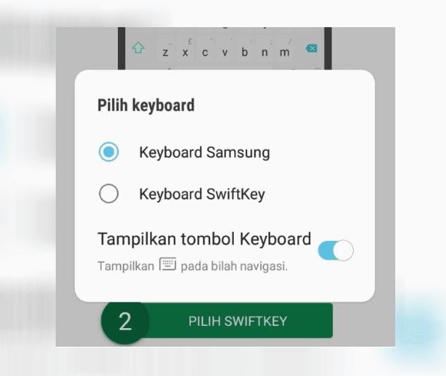 Pengaturan Default Keyboard