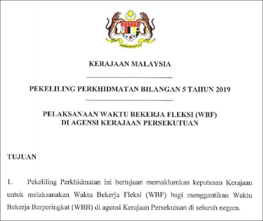 Waktu Bekerja Fleksibel Berkuatkuasa 1 Ogos 2019 Nukilan Budak Flat