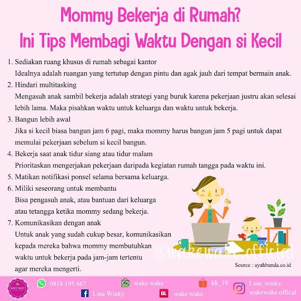 Tips Membagi Waktu Dengan Si Kecil Bagi Mommy Yang Bekerja di Rumah
