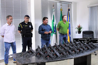 Guarda Municipal de Arapongas (PR) recebe 30 pistolas com investimento de R$ 111 mil