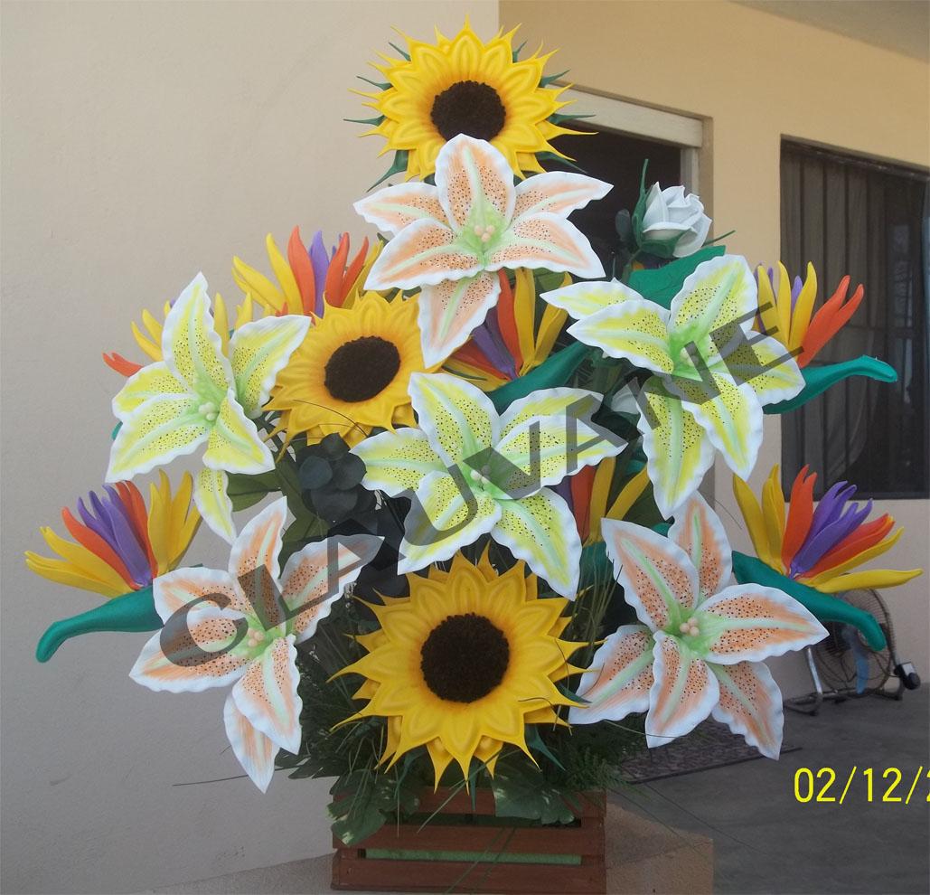 Arreglos Floral De Foami Imagui