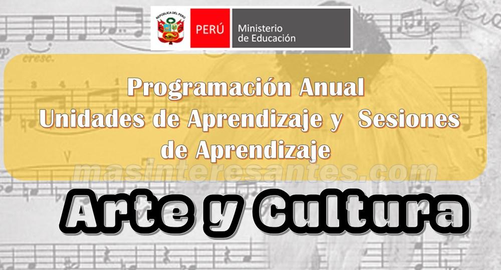 Programación Curricular, Unidades y Sesiones de Aprendizaje para Arte y Cultura