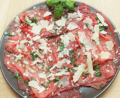 Easy beef carpaccio