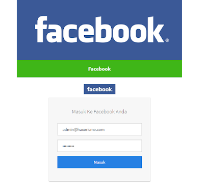 Demo Website Phising Facebook