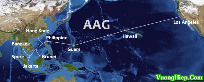 Cáp quang biển AAG gặp sự cố, Internet đi quốc tế lại bị ảnh hưởng