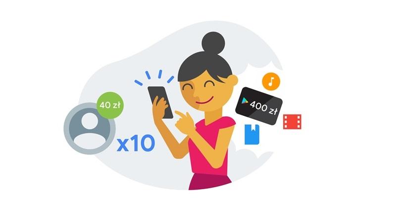 Do 400 zł na zakupy w Google Play za polecanie aplikacji Google Pay