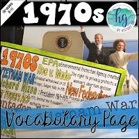Image of 1970s Vocabulary Handout
