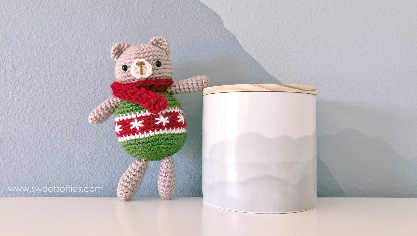 5 Little Monsters: Crocheted Bear Ornament | 908x1600