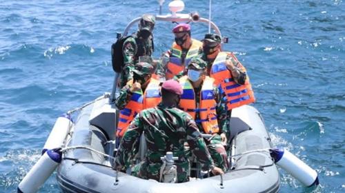 Pangdam I/BB Kunjungi Satgas Pamops Pulau Berhala