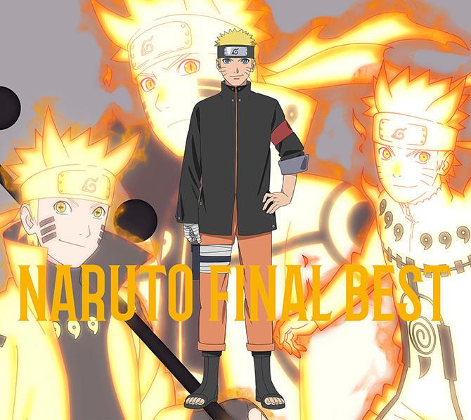 Okładka albumu NARUTO FINAL BEST na której znajduje się tytułowy bohater anime