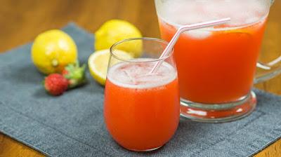 Limonada com Morango (vegana)