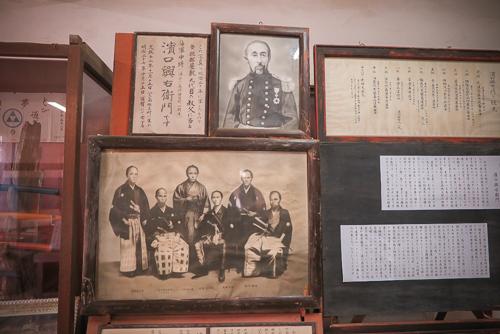 Old family photos, Hattori Yashiki, Hachijo Island, Japan.