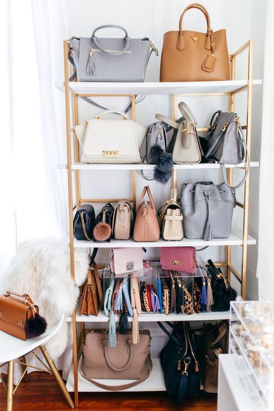 Las mejores ideas para organizar tus bolsos, carteras, billeteras (algunas DIY)