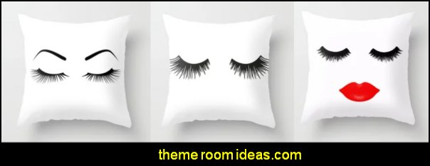 eyelash throw pillows eyelash home decor fashion bedding beauty decor