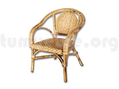 sillón mimbre natural j24
