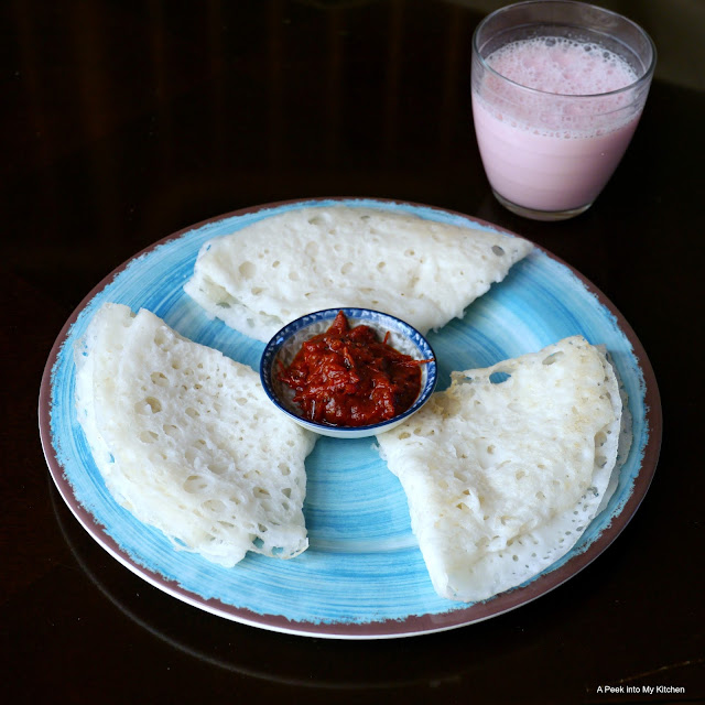 Neer Dosa / Lacy Rice Crepes ~ Day 164