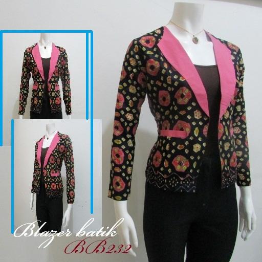 Model Blazer Batik Wanita Modern Model Batik 2019