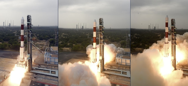 PSLV-C36 launch. Photo Credit: ISRO