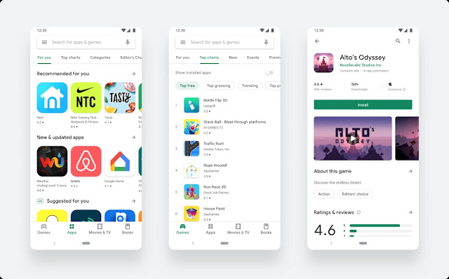 Download new Play Store updated with Material Design 2 - Techzost blog