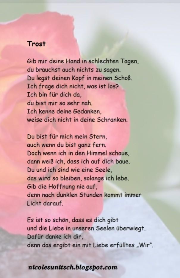 Gedichte Von Nicole Sunitsch Autorin Trost Gedicht Von Nicole