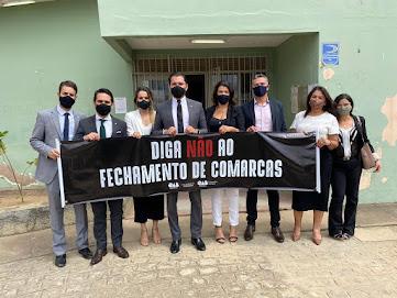 OAB Caruaru realizou protesto contra o fechamento de comarcas em mais quatro cidades