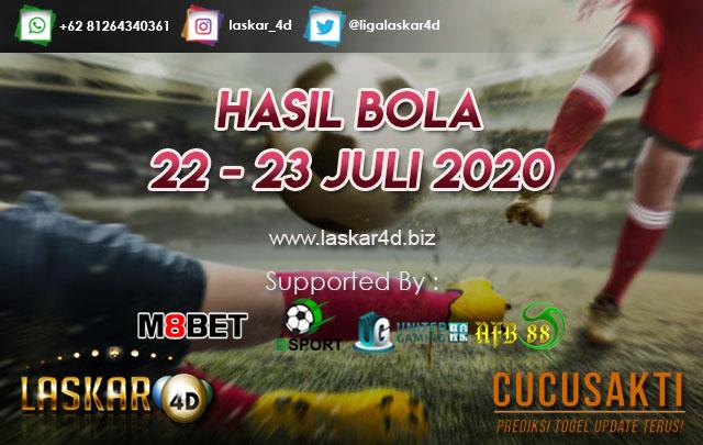 HASIL BOLA JITU TANGGAL 22 – 23 JULI 2020