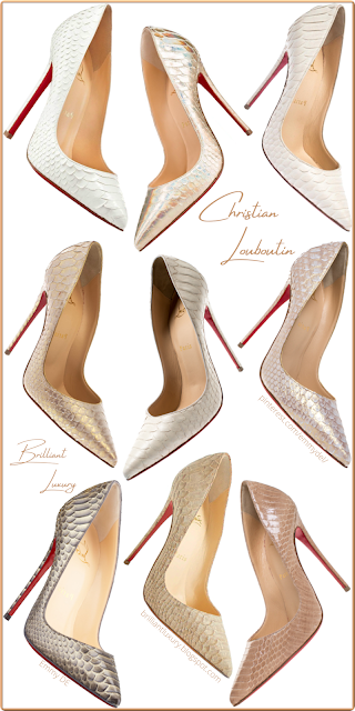 Exclusive Christian Louboutin snakeskin shoes #brilliantluxury