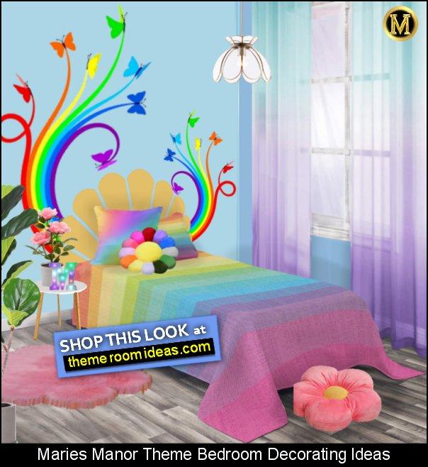 rainbow bedroom decor Rainbow Ombre Throw Pillow rainbow wall decal rainbow bedding Rainbow Colors Bedding rainbow room ideas