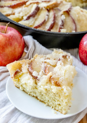 slice of dutch apple coffee cake, ready to eat