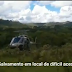 Águia presta apoio em resgate de homem perdido em mata em São Joaquim