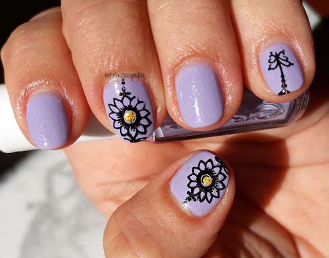 nail stamping spring garden born pretty