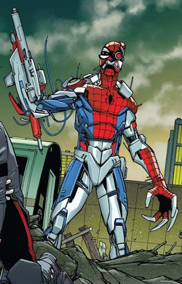 Versión tecnológica y robótica de Spiderman
