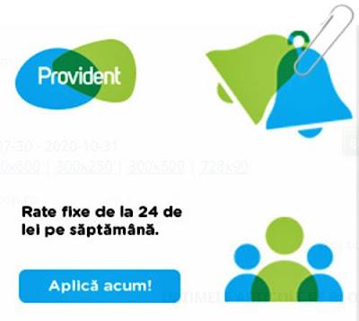 pareri promotie credit nevoi personale cu buletinul pe 48 saptamani provident