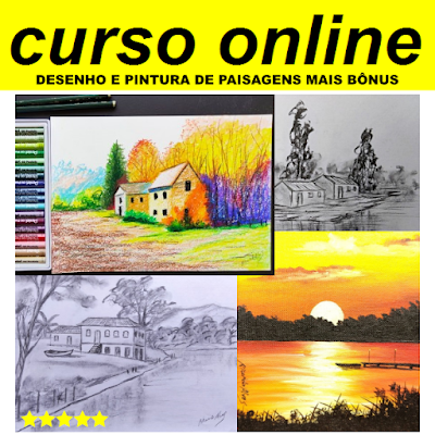 Curso Online de Desenho de Paisagens Naturais e Casarios [ARTETERAPIA]