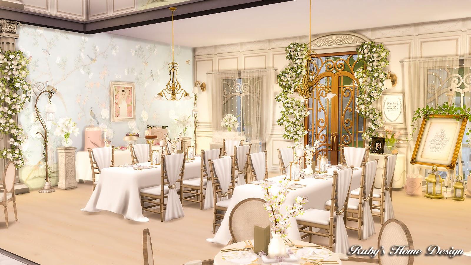 Sims 4 Von Haunt Estate Wedding Venue 浪漫莊園婚禮 [ Ruby's Home ...