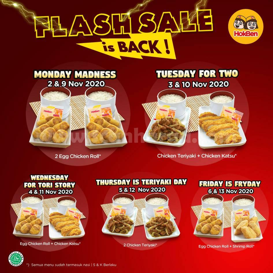 Hokben FLASH SALE Monday - Promo 2 Egg Chicken Roll [Berdua] Rp 55.000 nett