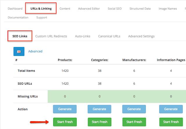 OpenCart Ürün Sayfası URL'lerini optimize edin