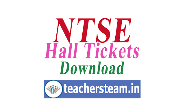 TS NTSE Exam Hall Tickets Download